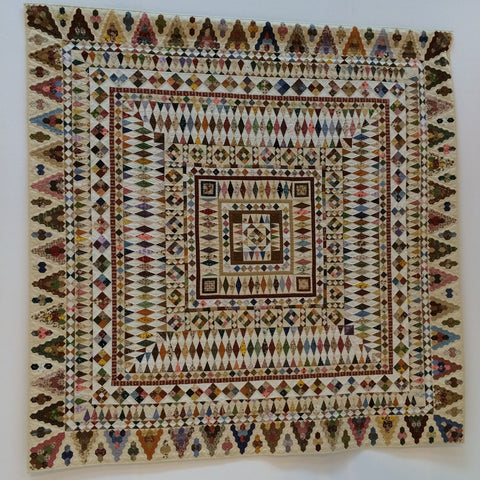 Customer Reproduction of The Billings Coverlet which is housed at the Quilters Guild of the British Isle in York England.