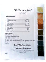 Toni Whitney Design Pride and Joy Applique Quilt Kit with Pattern and Fabric Kit - Beaverhead Treasures LLC