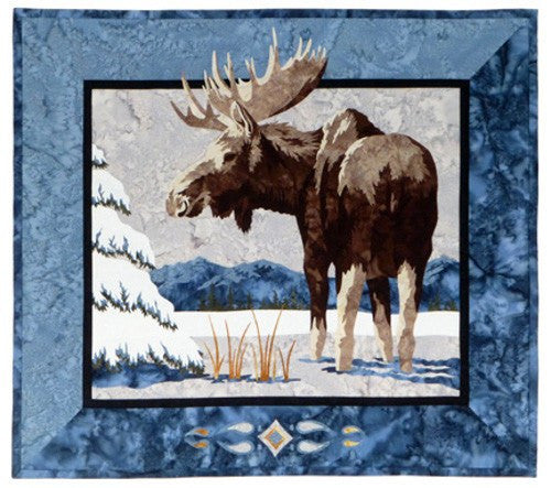 Wildfire Designs Alaska Moose n Spruce Applique Quilt Kit with Pattern and Fabric Kit
