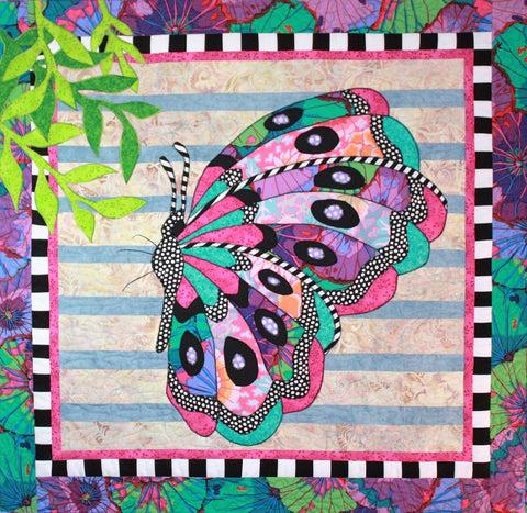 BJ Designs & Patterns Beatrice Butterfly Applique Quilt Pattern