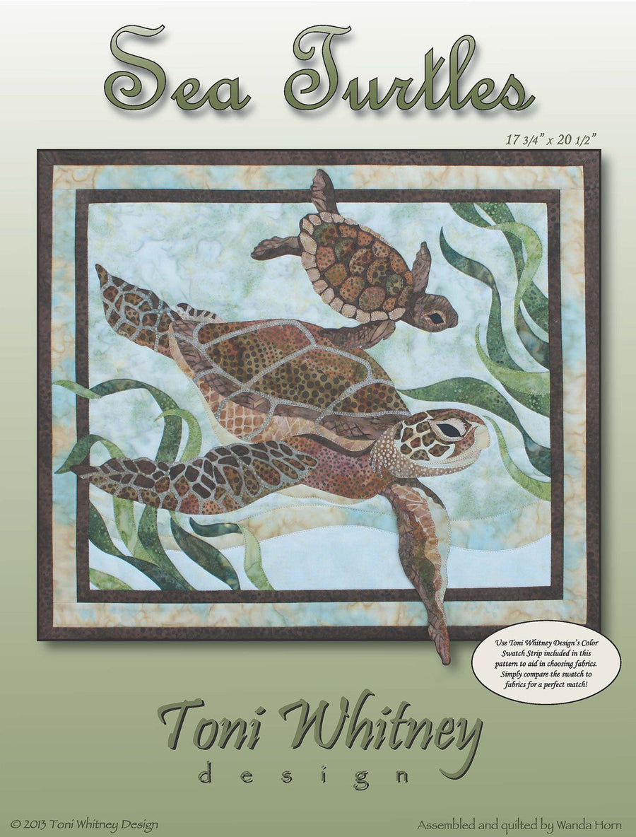 Toni Whitney Design Sea Turtles Applique Quilt Kit