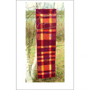 Aardvark Quilts Modern Plaid Table Runner Quilt Pattern - Beaverhead Treasures LLC