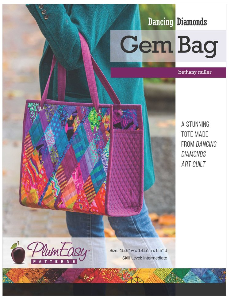 PlumEasy Dancing Diamonds Gem Bag Open Top Tote Alternate Colorway
