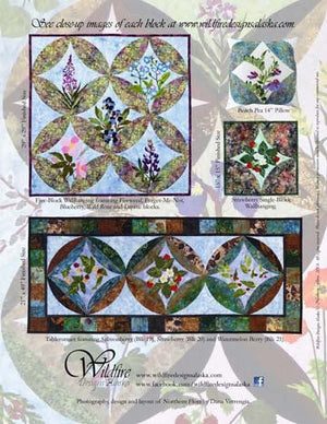 Wildfire Designs Alaska Northern Flora Applique Pattern Book Back Cover