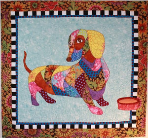 BJ Designs & Patterns Dagwood the Dachshund Wiener Dog Applique Quilt Pattern - Beaverhead Treasures LLC