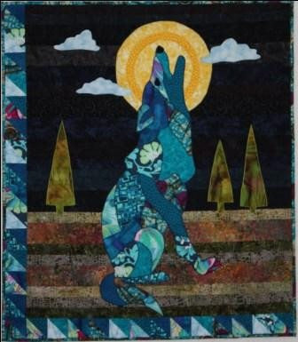 BJ Designs & Patterns La Luna Lobo Applique Quilt Pattern - Beaverhead Treasures LLC