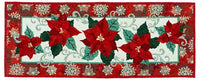 Wildfire Designs Alaska Red Poinsettia Too Table Runner Applique Quilt Pattern - Beaverhead Treasures LLC