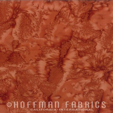 Hoffman Fabrics Watercolors Adobe Brown Red Batik Cotton Fabric 1895-100-Adobe