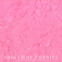 Hoffman Fabrics Watercolors Pink Batik Cotton Fabric 1895-12-Pink