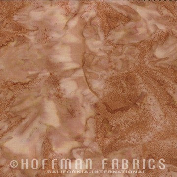 Hoffman Fabrics Watercolors Toast Brown 1895-179-Toast Bali Batik Fabric - Beaverhead Treasures LLC
