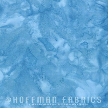 Hoffman Fabrics Watercolors H2O Blue Batik Cotton Fabric 1895-203-H2O