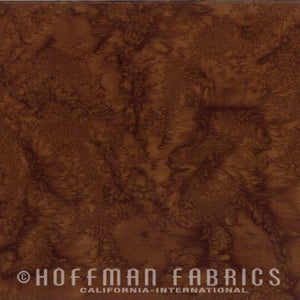 Hoffman Fabrics Watercolors Havana Brown 1895-253-Havana Bali Batik Fabric