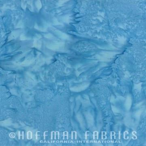 Hoffman Fabrics Watercolors Cerulean Blue Batik Fat Quarter 1895-258-Cerulean
