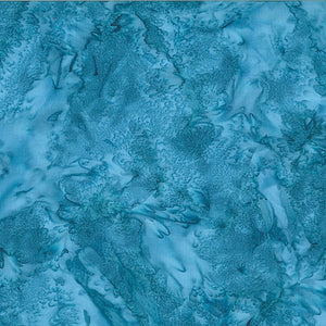 Hoffman Fabrics Watercolors Lake Blue 1895-311-Lake Bali Batik Fabric