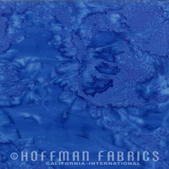 Hoffman Fabrics Watercolors Dragonfly Blue 1895-324-Dragonfly Bali Batik Fabric