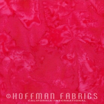 Hoffman Fabrics Watercolors Lucy Red Pink Batik Cotton Fabric 1895-348-Lucy