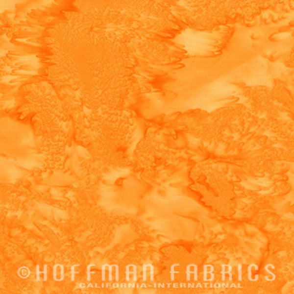 Hoffman Fabrics Watercolors The OC Orange Yellow Batik Cotton Fabric 1895-359-The-OC
