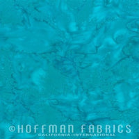 Hoffman Fabrics Watercolors Cabo Blue Batik Cotton Fabric 1895-361-Cabo