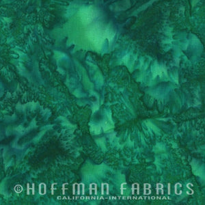 Hoffman Fabrics Watercolors Belize Green Blue 1895-362-Belize Bali Batik Fabric