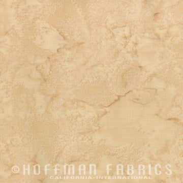 Hoffman Fabrics Watercolors Aspen Cream Tan 1895-367-Aspen Bali Batik Fabric