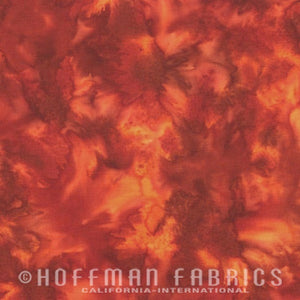 Hoffman Fabrics Watercolors Paprika Red Orange 1895-389-Paprika Bali Batik Fabric