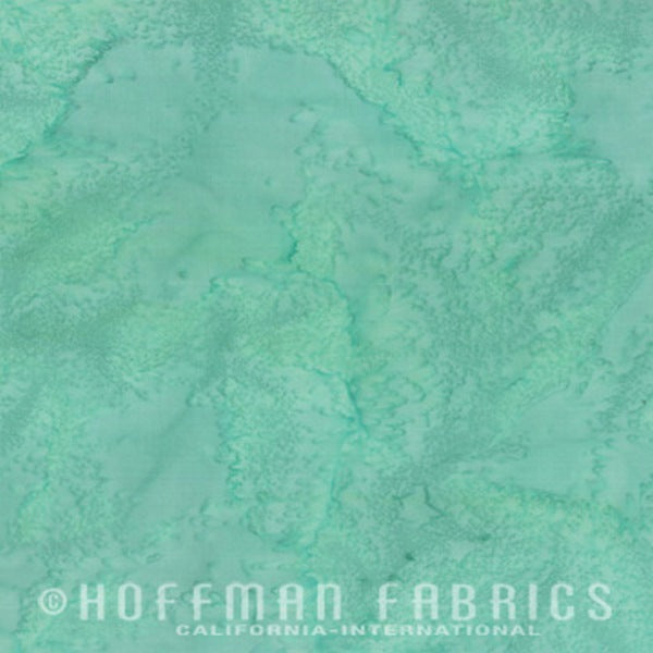 Hoffman Fabrics Watercolors Aqua Blue Green Batik Cotton Fabric 1895-41-Aqua