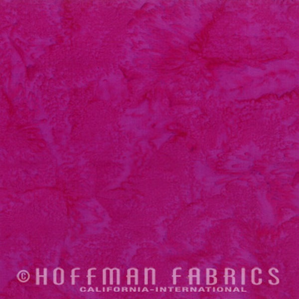 Hoffman Fabrics Watercolors Winter Cherry Pink Red 1895-441-Winter-Cherry Bali Batik Fabric