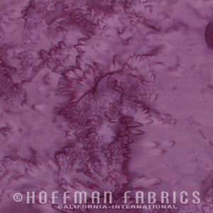 Hoffman Fabrics Watercolors Plum Purple 1895-46-Plum Bali Batik Fabric