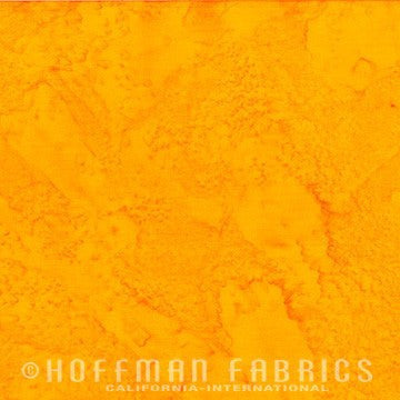 Hoffman Fabrics Watercolors Buttercup Yellow 1895-471-Buttercup Bali Batik Fabric