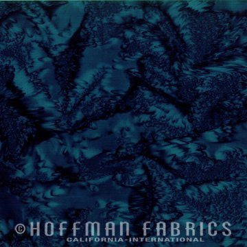 Hoffman Fabrics Watercolors Moonstruck Blue Batik Cotton Fabric 1895-524-Moonstruck