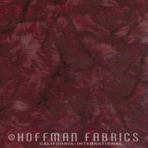 Hoffman Fabrics Watercolors Nightshade Red Brown 1895-533-Nightshade Bali Batik Fabric