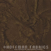 Hoffman Fabrics Watercolors Woodstock Green Brown Batik Cotton Fabric 1895-540-Woodstock