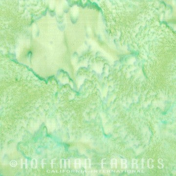 Hoffman Fabrics Watercolors Treetop Green Batik Cotton Fabric 1895-554-Treetop