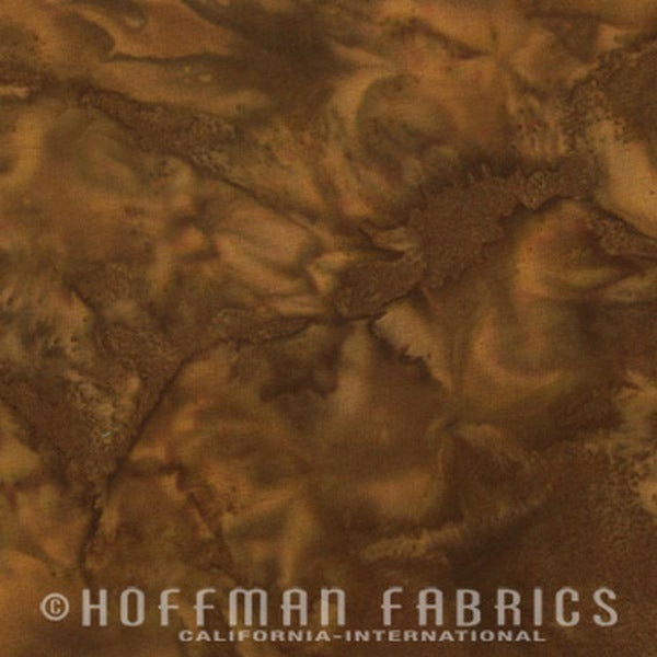 Hoffman Fabrics Watercolors Earth Brown Green 1895-58-Earth Bali Batik Fabric