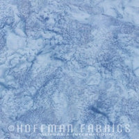Hoffman Fabrics Watercolors January Blue Grey Batik Cotton Fabric 1895-586-January