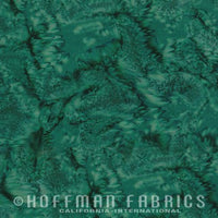 Hoffman Fabrics Watercolors Hunter Green Batik Cotton Fabric 1895-60-Hunter