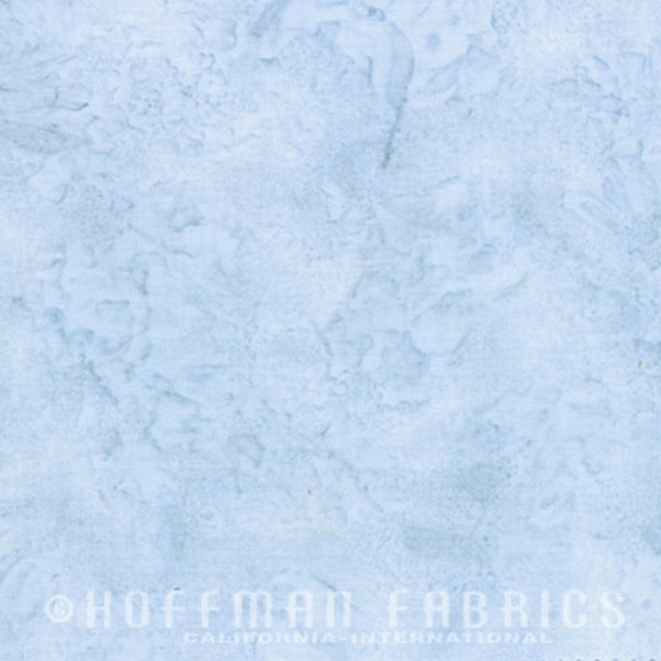 Hoffman Fabrics Watercolors Dusty Blue 1895-D7-Dusty-Blue Bali Batik Fabric
