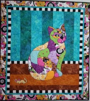 BJ Designs & Patterns Princess Kitty Kitty Applique Quilt Pattern - Beaverhead Treasures LLC