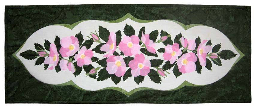 Wildfire Designs Alaska Wild Rose Table Runner Applique Quilt Pattern
