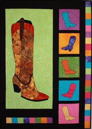 BJ Designs & Patterns Boot Scootin Applique Quilt Pattern