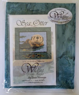 Wildfire Designs Alaska Sea Otter Applique Quilt Kit with Pattern and Fabric Kit - Beaverhead Treasures LLC