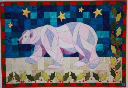 Bj designs patterns holly bear applique quilt pattern