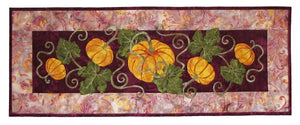 Wildfire Designs Alaska Pumpkin Patch Too Table Runner Applique Quilt Pattern - Beaverhead Treasures LLC