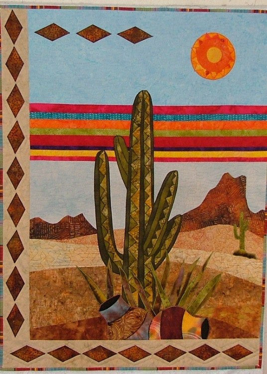 BJ Designs & Patterns Cactus Mesa Applique Quilt Pattern - Beaverhead Treasures LLC