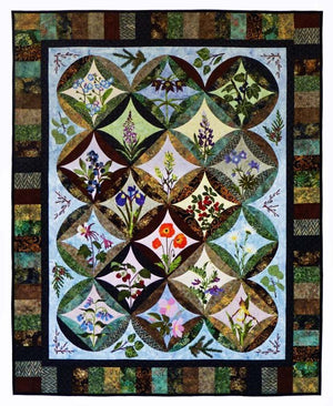 Wildfire Designs Alaska Northern Flora Applique Quilt Pattern - Beaverhead Treasures LLC