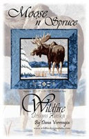 Wildfire Designs Alaska Moose n Spruce Applique Quilt Kit with Pattern and Fabric Kit - Beaverhead Treasures LLC