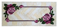 Wildfire Designs Alaska Eva's Roses Table Runner Applique Quilt Pattern - Beaverhead Treasures LLC