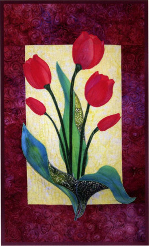 Zebra Patterns Tulip Flower Applique Quilt Pattern - Beaverhead Treasures LLC