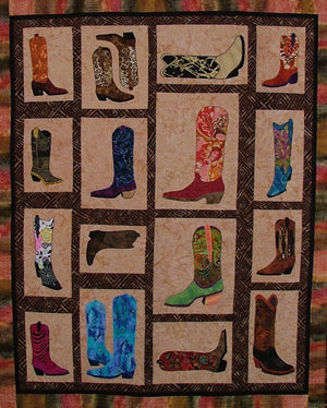 BJ Designs & Patterns Boots, Boots, Boots  Applique Quilt Pattern - Beaverhead Treasures LLC