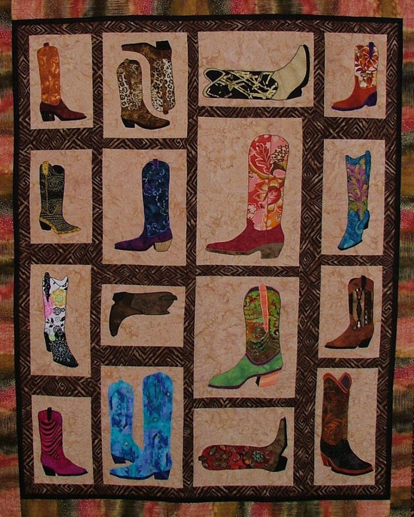 BJ Designs & Patterns Boots, Boots, Boots  Applique Quilt Pattern